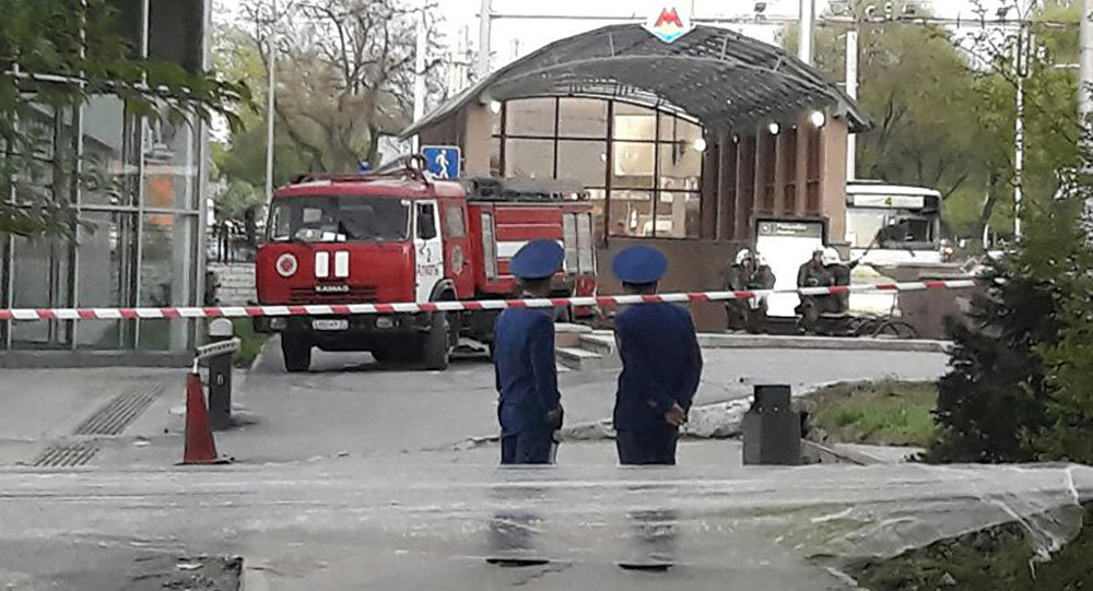 ВАлма-Ате эвакуировали все станции метро после звонка оминировании