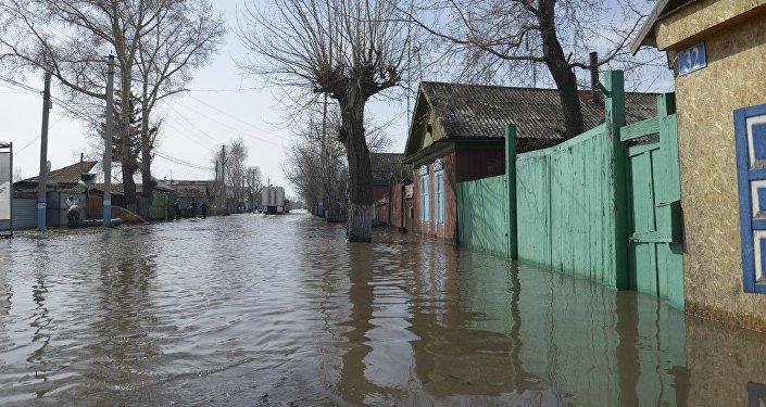 Паводок в Северо-Казахстанской области