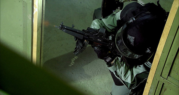 Архивное фото бойца спецназа КНБ РК