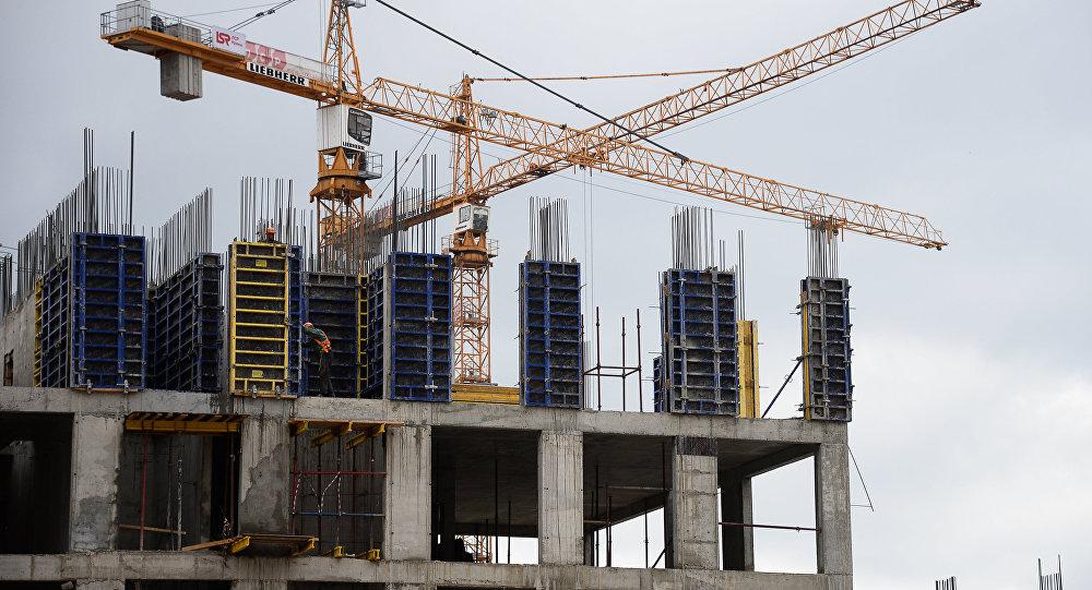 Архивное фото строительства жилого комплекса