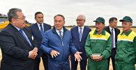 Президент Казахстана Нурсултан Назарбаев в ходе визита в Северо-Казахстанскую область