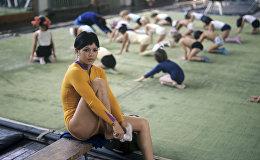 Олимпийская чемпионка по спортивной гимнастике Нелли Ким