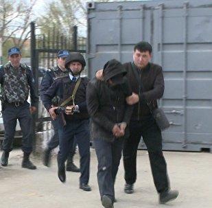 Задержание грабителей в Атырау