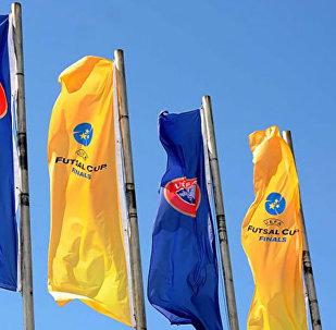 Флаги с эмблемой Кубка УЕФА по футзалу
