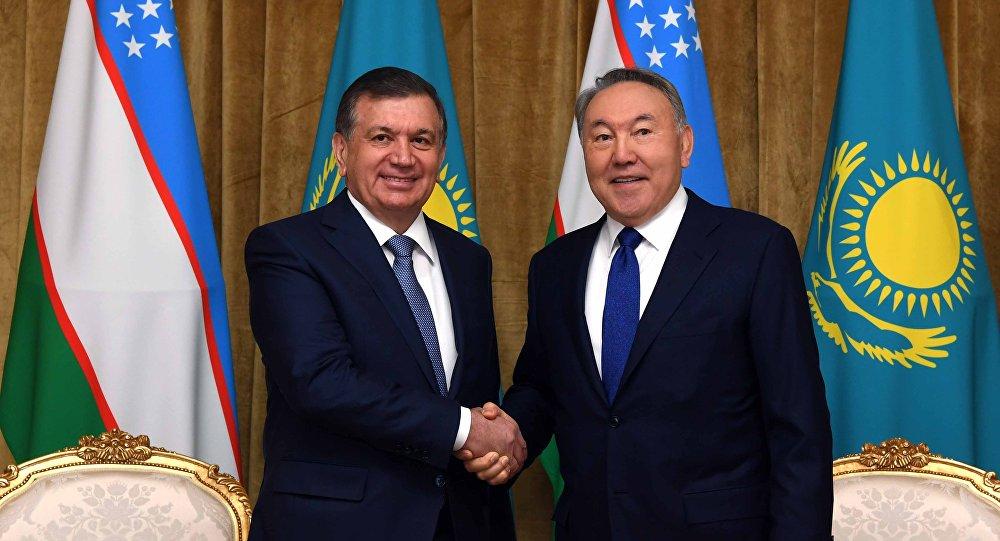 Шавкат Мирзиёев и Нурсултан Назарбаев