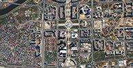 Снимок Астаны из космоса, сделанный KazEOSat-1