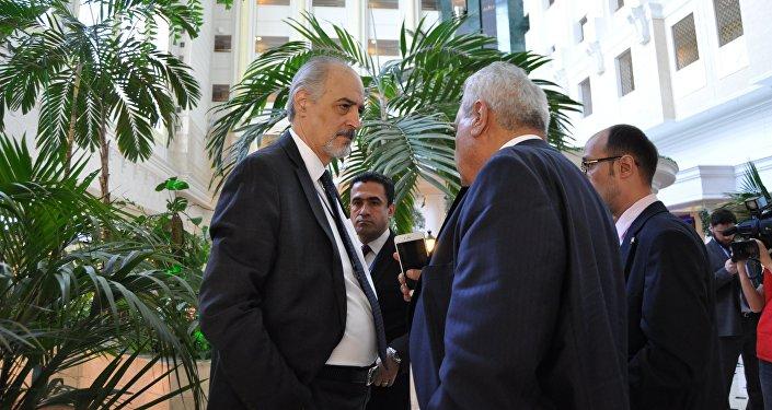 Руководитель правительственной делегации Сирии, постоянный представитель Сирии при ООН Башар Джаафари