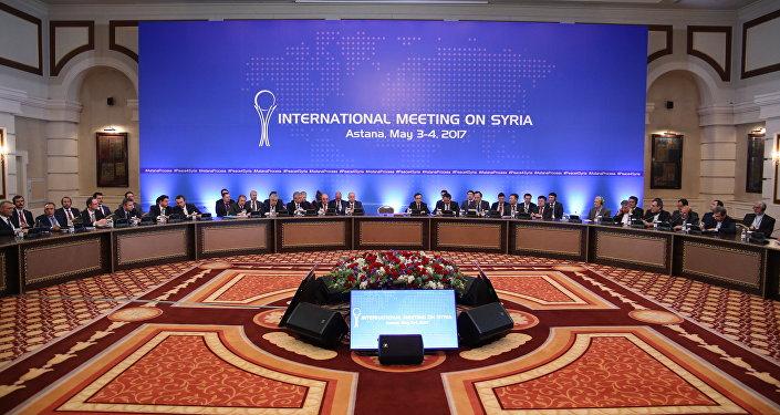 Архивное фото четвертого раунда переговоров по Сирии в Астане