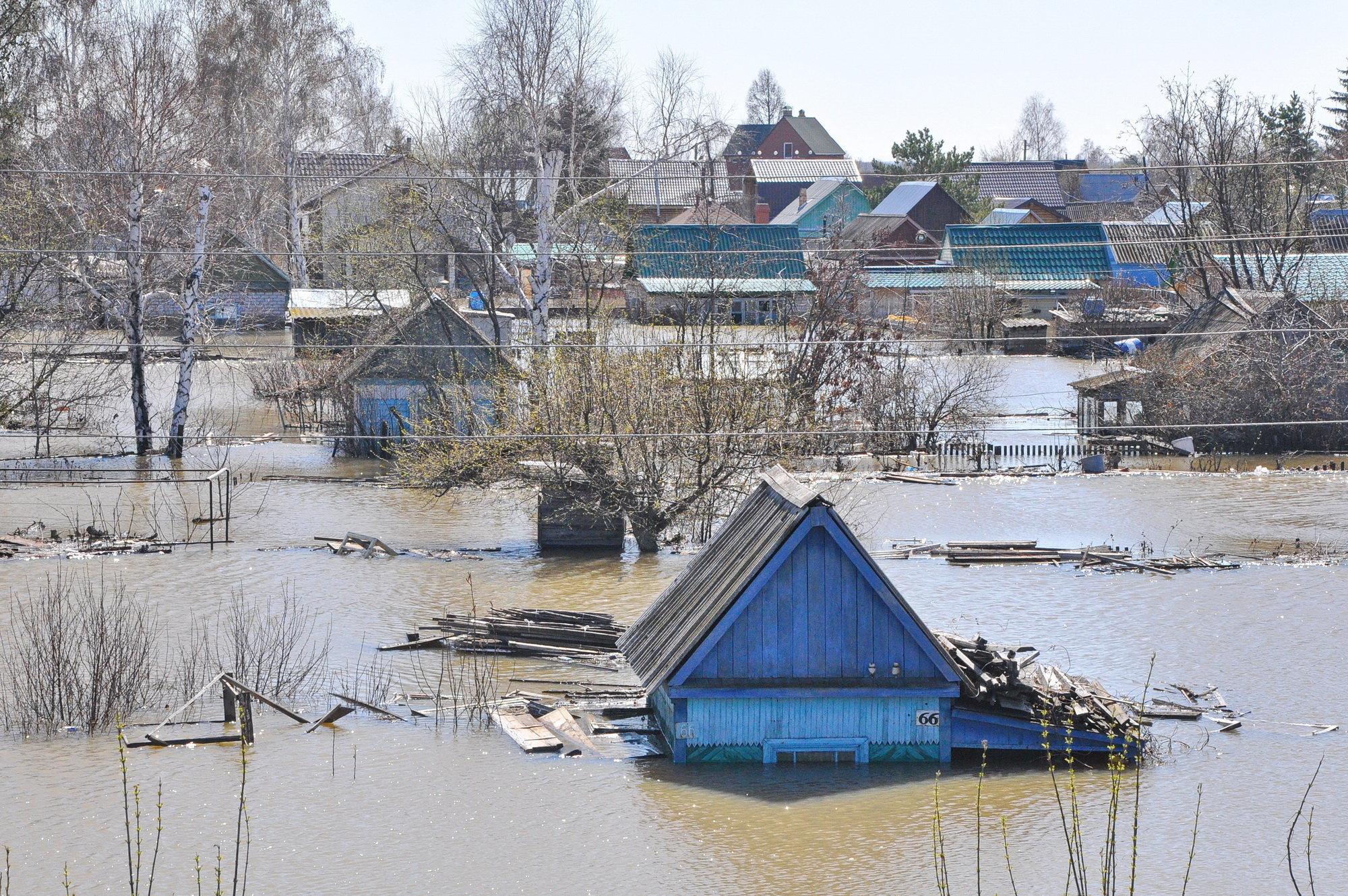 Паводок в Петропавловске