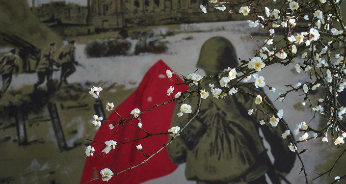 Фрагмент трехмерной панорамы Битва за Берлин. Подвиг знаменосцев