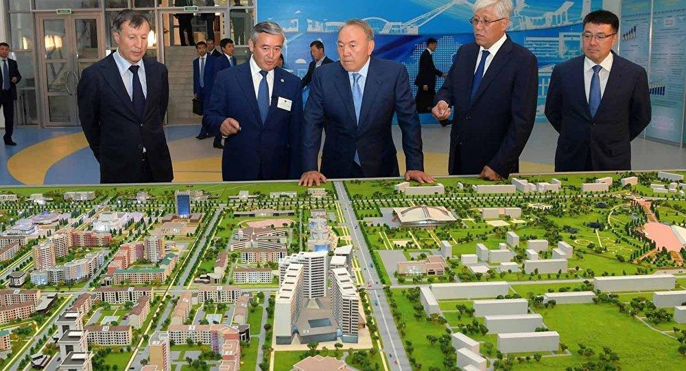 Нурсултан Назарбаев ознакомился с генпланом развития Талдыкоргана и Нуркента