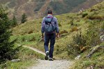 Турист, горы