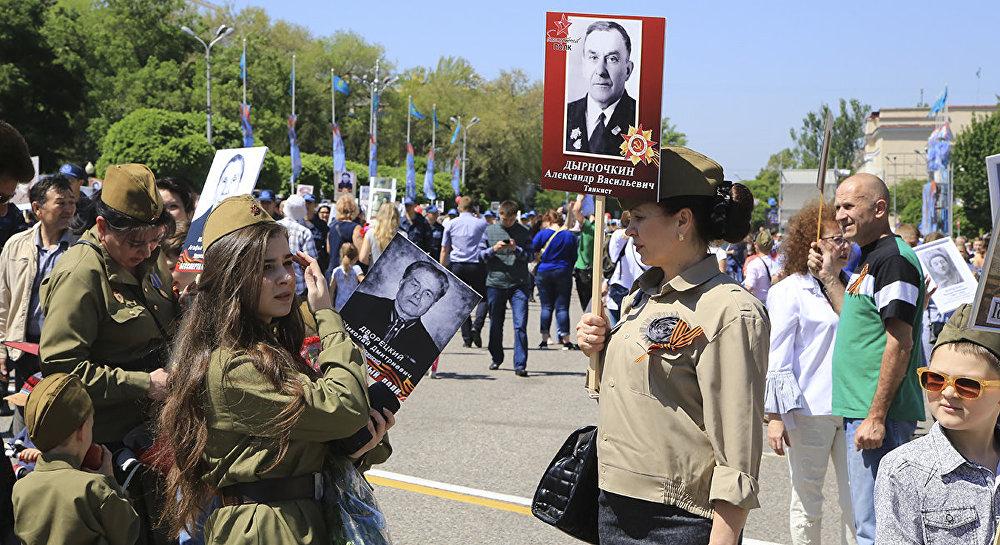 Бессмертный полк прошел по улицам Алматы