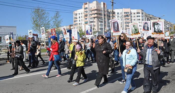 Акция Бессмертный полк в Петропавловске