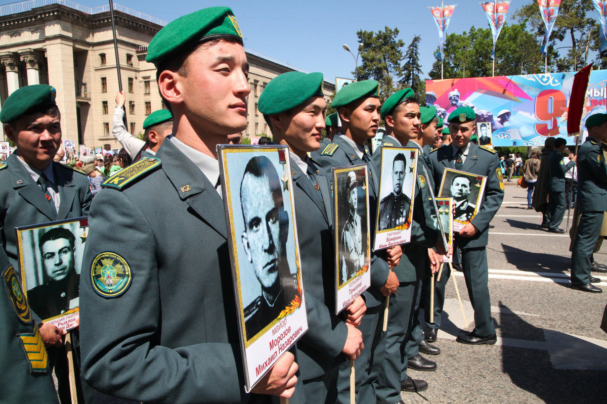 Акция Бессмертный полк в Алматы