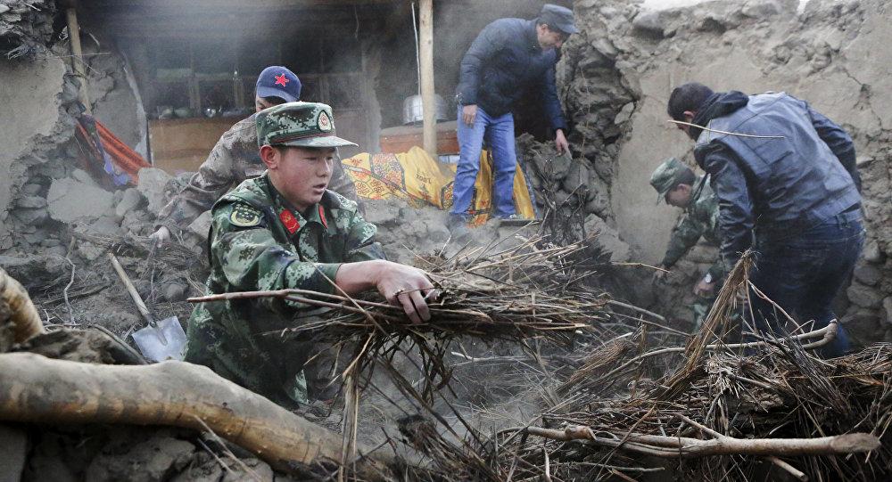 В результате землетрясения в Синьцзян-Уйгурском автономном районе (СУАР) Китая разрушенными оказались по меньшей мере 180 зданий