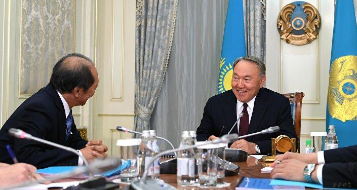 Шигео Катсу и Нурсултан Назарбаев