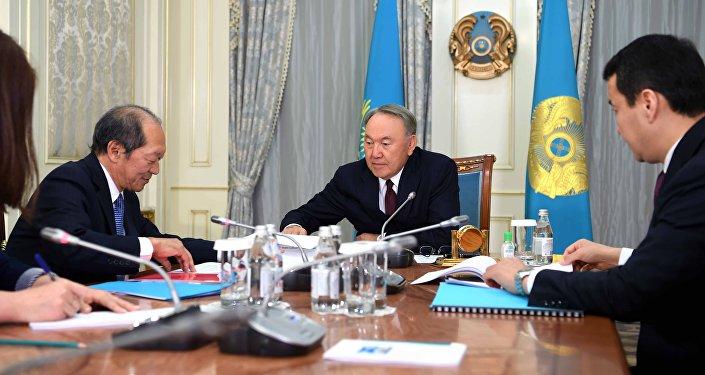 Нұрсұлтан Назарбаев пен Шигео Катсу