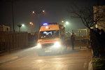 Архивное фото машины скорой помощи и полицейского в Турции