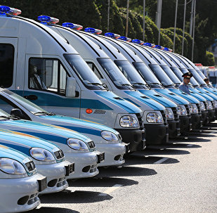 Архивное фото полицейских служебных автомобилей