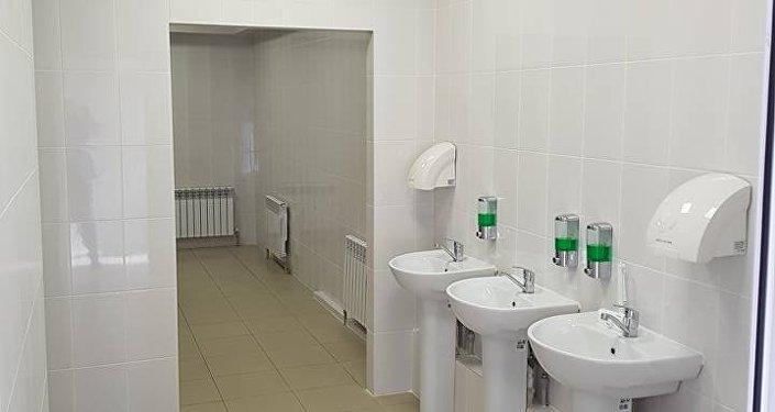 Общественный туалет в Астане
