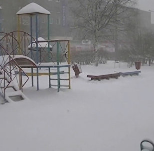 Майский снегопад в Карелии