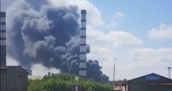 Пожар на ТЭЦ в Усть-Каменогорске