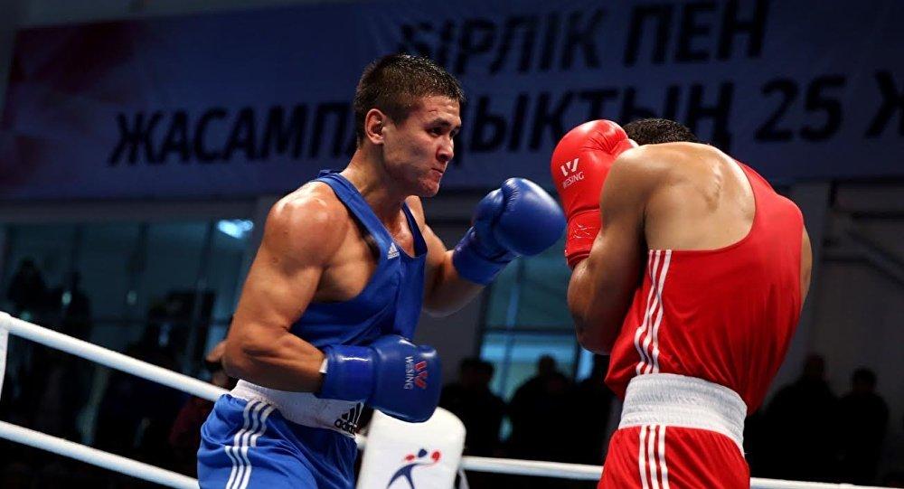 Казахстанский боксер Турсынбай Кулахмет на Исламиаде