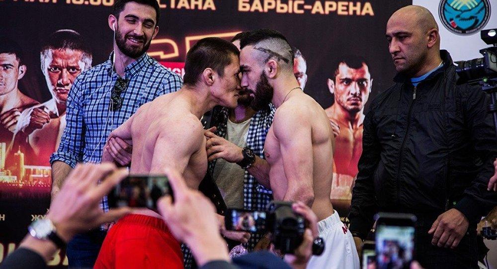 Бойцы MMA Жалгас Жумагулов и Вартан Асатрян