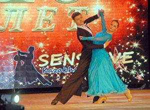 Ансамбль бального танца Sensitive во время выступления