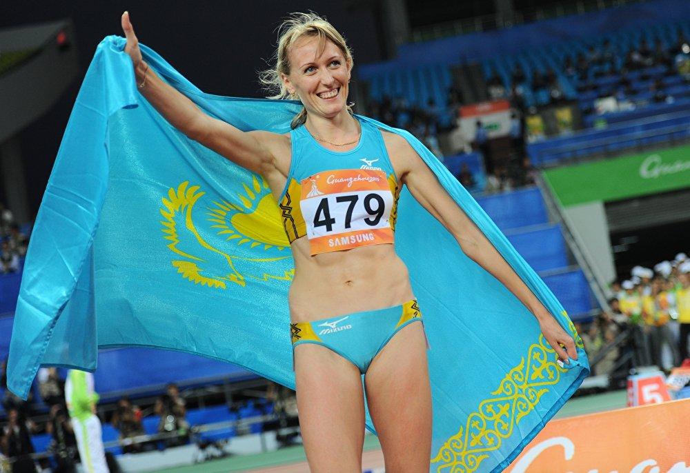 Казахстанская легкоатлетка Ольга Терешкова