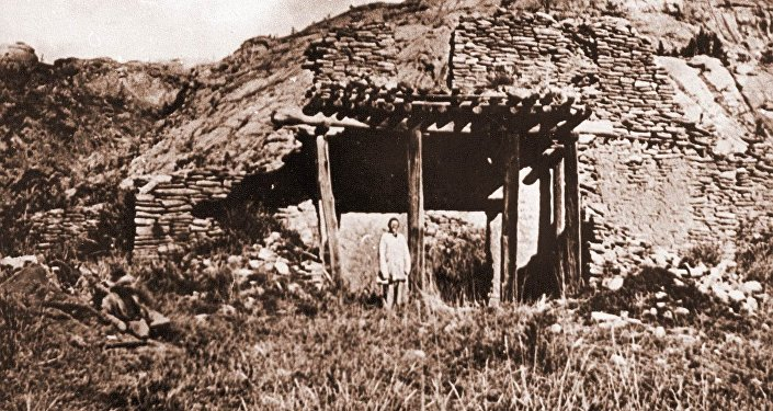 Развалины Кзылкентского дворца, 1950-60 гг