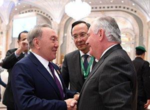 Нурсултан Назарбаев и госсекретарь США Рекс Тиллерсон