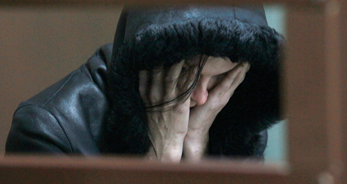 Женщина на скамье подсудимых, архивное фото