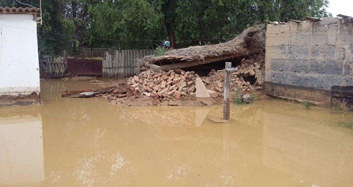 Дожди подтопили дворы в селах Алматинской области