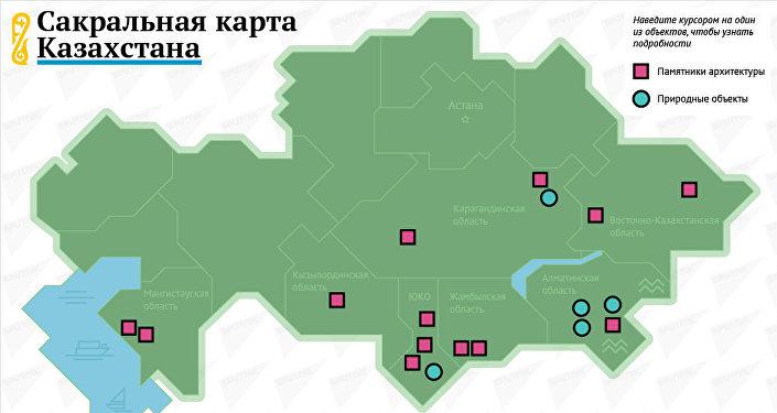 Сакральная карта Казахстана
