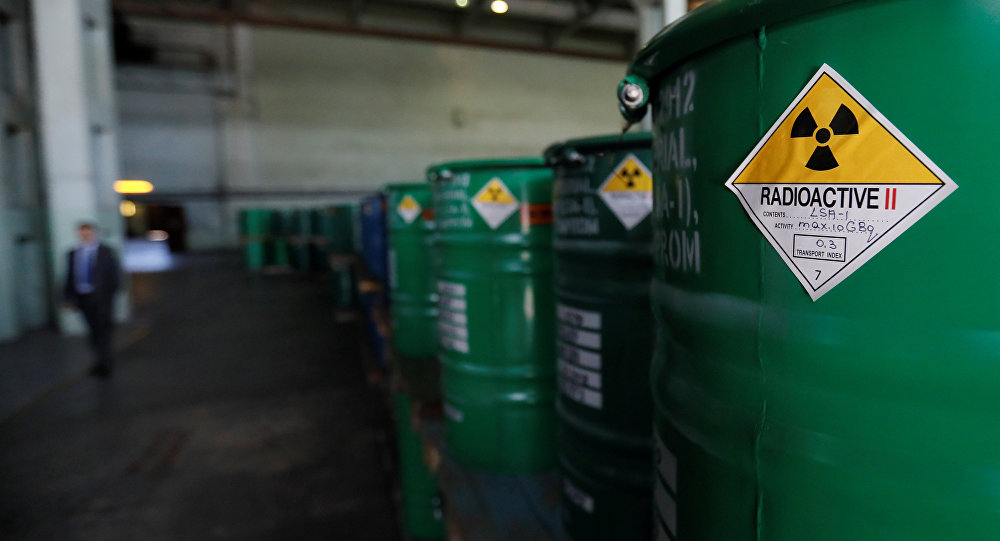 Бочки с оксидом урана, архивное фото