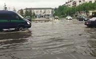 Дождь затопил Петропавловск