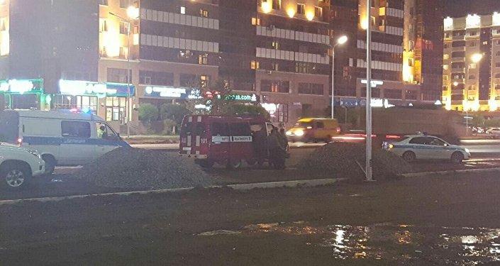 Тушение пожара в ЖК Номад в Астане