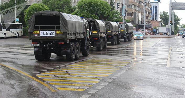 В Алматы перекрыта площадь Республики