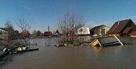 Последствия паводка в Северном Казахстане