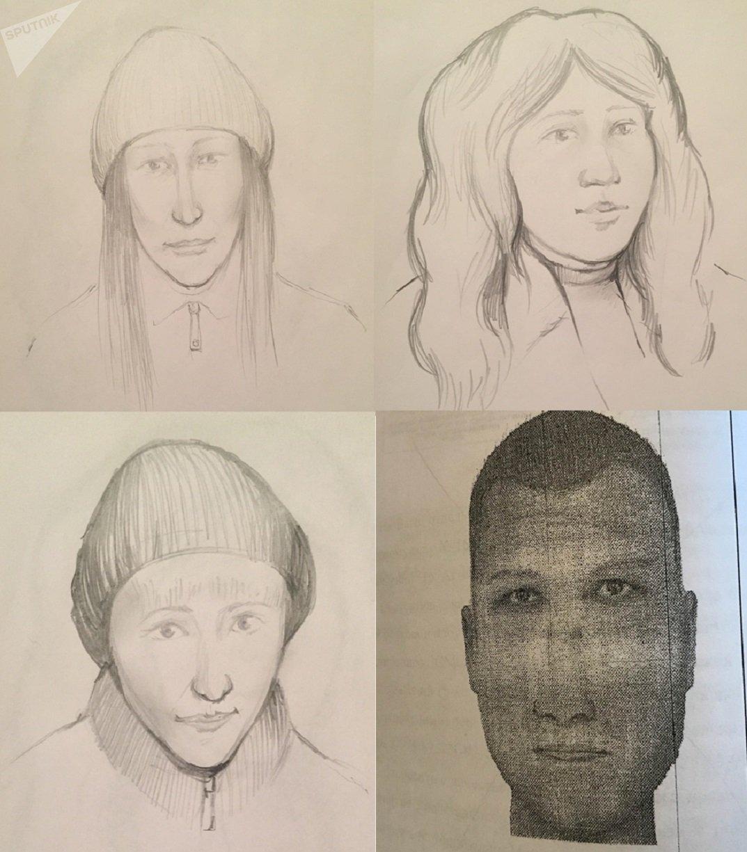 Фотороботы разыскиваемых в Караганде мошенников