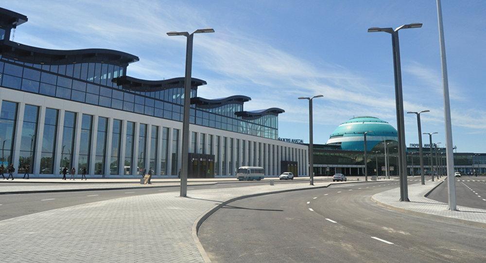 Новый терминал международного аэропорта в Астане