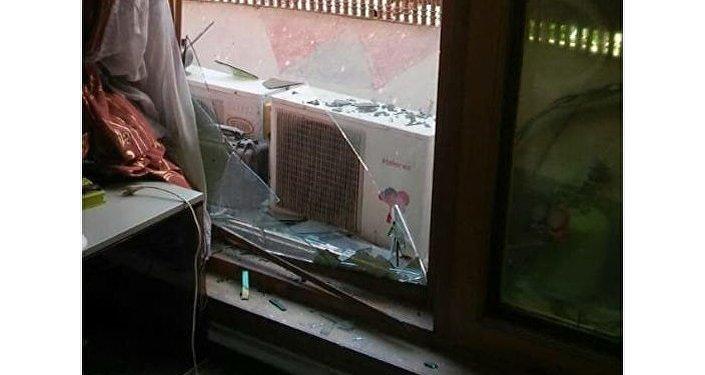 Пострадавшее при взрыве посольство Казахстана в Кабуле