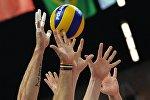 Архивное фото с соревнований по волейболу среди мужчин