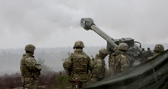 Военные учения НАТО в Латвии