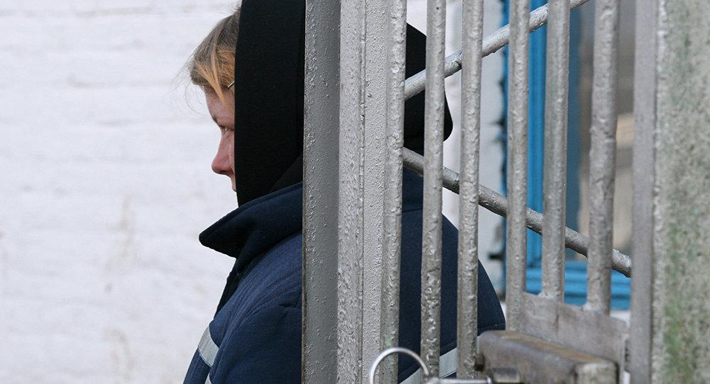 Архивное фото женщины-заключенной