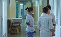 Архивное фото сотрудников больницы