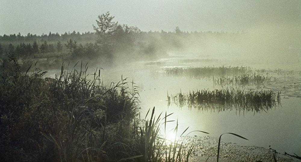 Ранее утро на реке, архивное фото