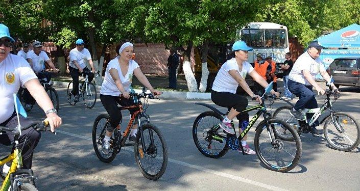 Велопробег полковников в Петропавловске